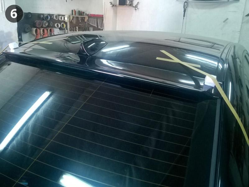 Завершение установки бленды на BMW E60