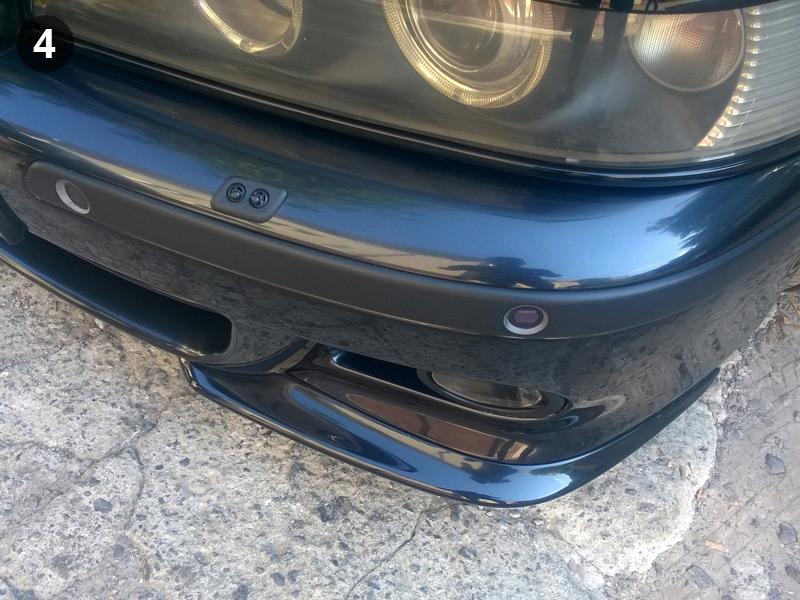 Завершение установки элеронов на М-бампер BMW E39