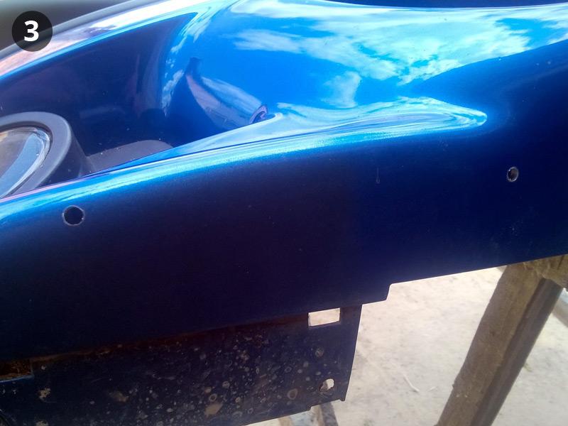 Установка накладки на М-бампер BMW E39. Сверление отверстий